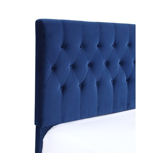 Emerald Home Amelia Upholstered Bed Kit Twin Navy B128-08hbfbr-34