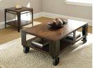 "Barrett Cocktail Table Wood Top & Shelf, 52""x 32"" x 19"" Product Image"