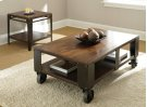 """Barrett Cocktail Table Legs & Casters, 52""""x 32"""" x 19"""" Product Image"""