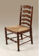 Umber Finished Mahogany Ladderback Side Chair, Abaca Rope Rush Seat Product Image