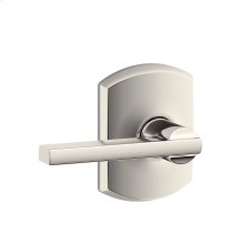 Latitude lever with Greenwich trim Hall & Closet lock - Polished Nickel