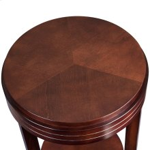 Chocolate Cherry Round End Table #10106-CH