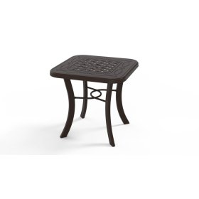 """Cast Top Table 22"""" Square End Table"""