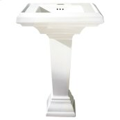 Town Square 24-inch Petite Pedestal Sink - White