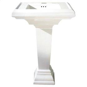 Town Square 24-inch Petite Pedestal Sink - Linen