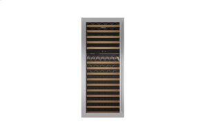"Built-In 30"" Wine Storage Stainless Steel Dual Flush Inset Door Panel with Tubular Handle"
