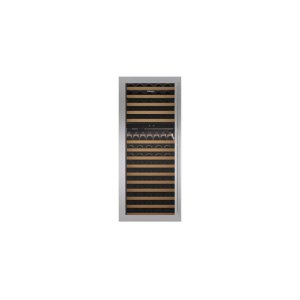 """Built-In 30"""" Wine Storage Stainless Steel Flush Inset Door Panel with Tubular Handle"""