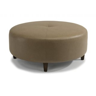 Wyman Leather Cocktail Ottoman
