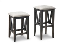 "Chattanooga 24"" Counter Stool With Fabric/Bonded Leather Seat Product Image"