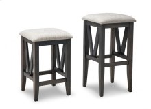 "Chattanooga 24"" Counter Stool With Fabric/Bonded Leather Seat"