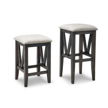 "Chattanooga 24"" Counter Stool With Leather Seat"