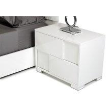 Modrest Ancona Italian Modern White Nightstand