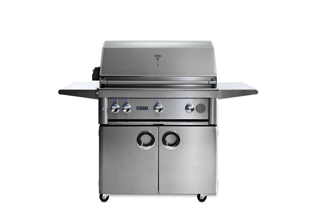 """36"""" Lynx Professional Freestanding Smart Grill with Rotisserie, NG  STAINLESS STEEL"""