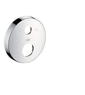 Brushed Nickel Extension escutcheon round two hole 0-1-2