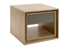 "Square Side Table / 1 Drawer With ""quadro"" Slides"