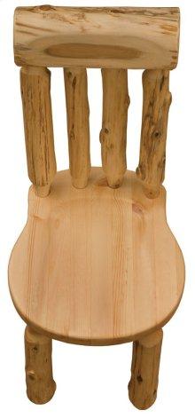 Bistro Lumberjack Side Chair Wood Seat