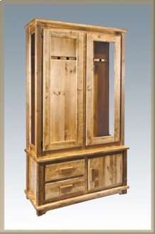 Homestead Gun Cabinet Stained and Lacquered