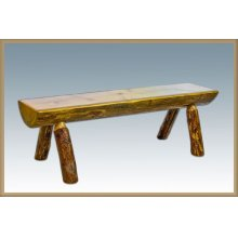 Glacier Country Half Log Bench