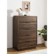 Modern Gatherings Two - Five Drawer Chest - Brushed Acacia Finish Product Image