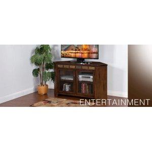 """Santa Fe 55"""" Corner TV Console"""