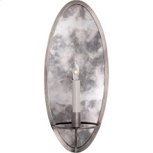Visual Comfort NW2110AN Niermann Weeks Regent 1 Light 8 inch Antique Nickel with Antique Mirror Sconce Wall Light, Niermann Weeks, Oval