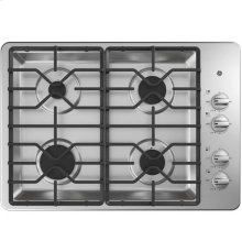"30"" Built-In Gas Deep Recessed Stainless Steel Cooktop"