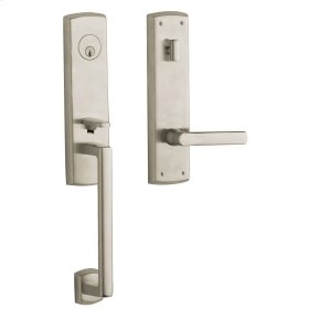 Satin Nickel Soho Escutcheon Handleset
