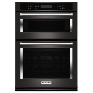 "KitchenAid30"" Combination Wall Oven with Even-Heat™ True Convection (Lower Oven) - Black Stainless Steel with PrintShield™ Finish"