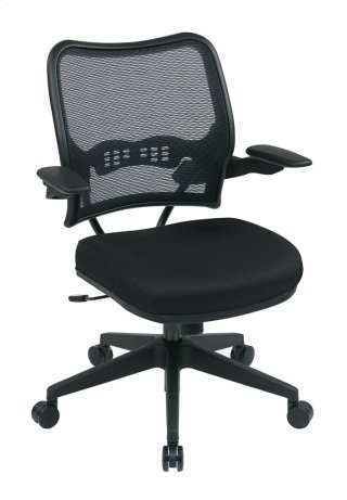 Deluxe Airgrid® Back Chair With Custom Fabric Seat and Cantilever Arms