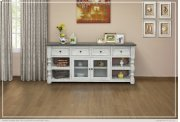 """80"""" TV Stand w/ 4 Drawer & 2 Glass Doors Product Image"""