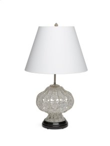 Antique Gold Crystal Table Lamp with Marble Base