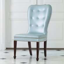 Charleston Chair-Blue with Walnut Finish Legs