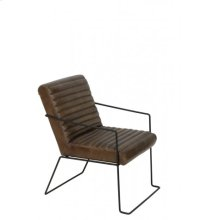 Chair 54x72x80 cm MORIARTY leather brown