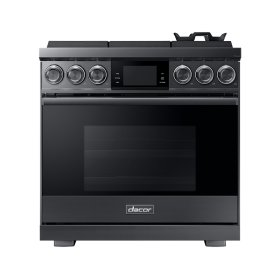 """36"""" Pro Gas Range, Graphite Stainless Steel, Natural Gas"""