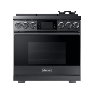 "Dacor36"" Pro Gas Range, Graphite Stainless Steel, Natural Gas"