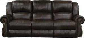 CATNAPPER 764221 Messina Top Grain Leather Touch Power Headrest With Lumbar Reclining Power Lay Flat Sofa