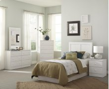 White 4 Drawer Chest (Net Price)