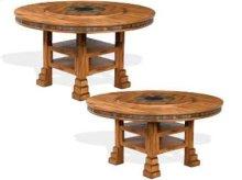 "Sedona 60"" Round Dual Height Dining Table w/ Lazy Susan"