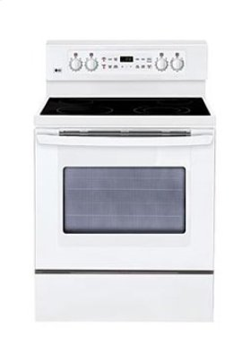 Extra-large Capacity Freestanding Electric Range with PreciseTemp™ baking system.