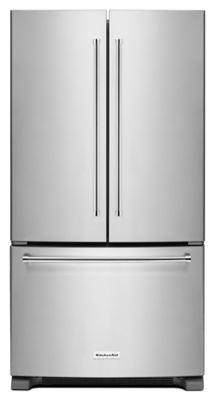 20 cu. ft. 36-Inch Width Counter-Depth French Door Refrigerator with Interior Dispense - Stainless Steel