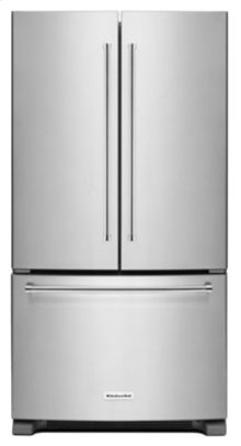 20 cu. ft. 36-Inch Width Counter-Depth French Door Refrigerator with Interior Dispenser - Stainless Steel