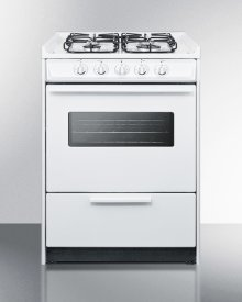 """24"""" Wide Slide-in Gas Range In White With Sealed Burners, Oven Window, Light, and Electronic Ignition; Replaces Wnm616rw/wtm6107swrt"""