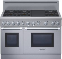"Professional Series 48"" Gas Standard-depth Range  - Porcelain Rangetop"