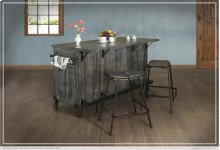Kitchen Island w/3 Drawer, 5 Doors, 3 Shalves & casters
