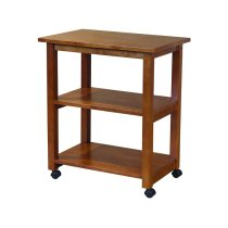 Microwave Cart in Oak Product Image