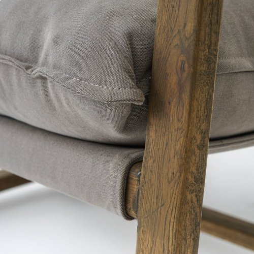Robson Pewter/dark Oak Cover Ace Chair