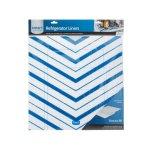 FrigidaireSmart Choice Trim-to-Fit Refrigerator Liner, Blue Chevron 2 Pack