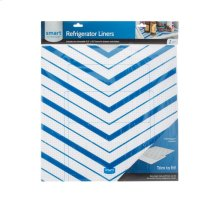 Trim-to-Fit Refrigerator Liner, Blue Chevron 2 Pack