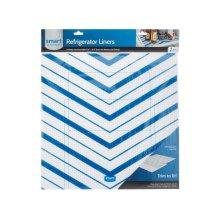 Smart Choice Trim-to-Fit Refrigerator Liner, Blue Chevron 2 Pack