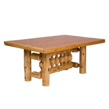 Traditional Dining Table - 6-foot - Natural Cedar - Liquid Glass